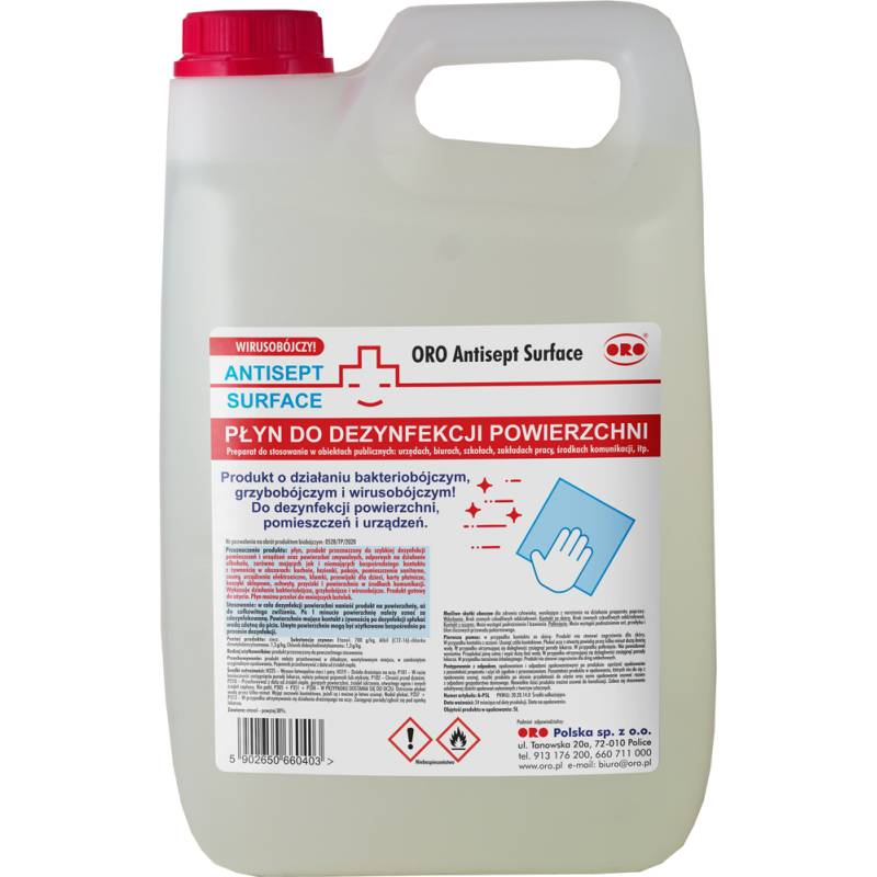 Płyn do dezynfekcji powierzchni, 5 L